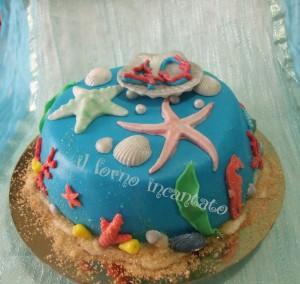 Torta mare for Decorazioni torte tema mare