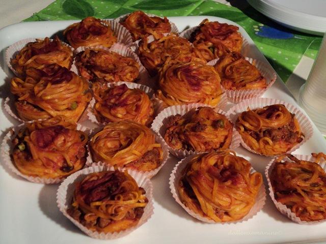 mini crostatine di tagliolini rosse