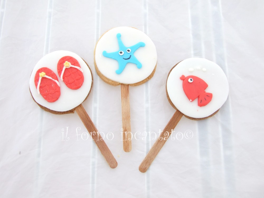 biscotti decorati tema mare