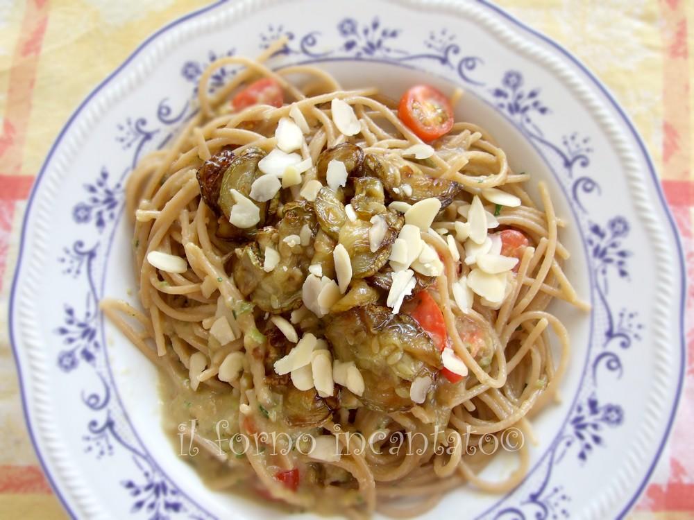 pasta con la zucchina fritta