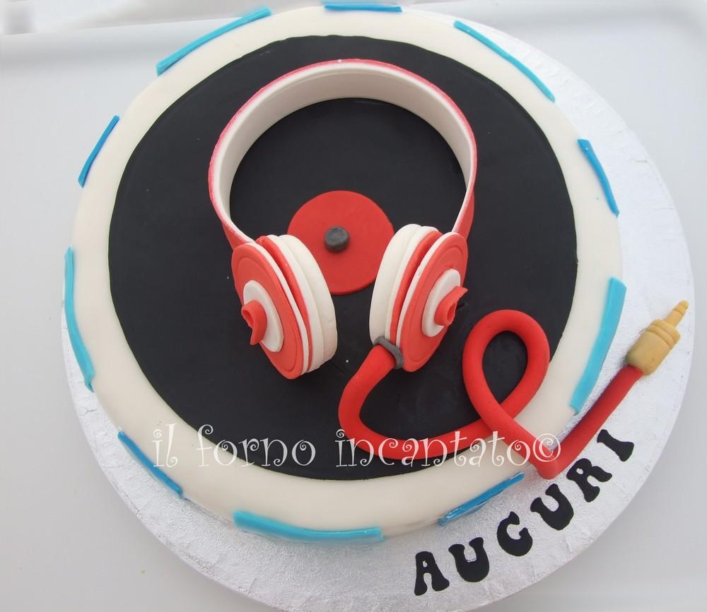 torta cuffie Beats torta dj