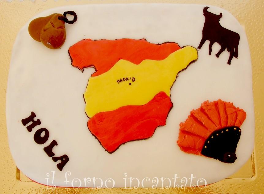 torta decorata tema spagna