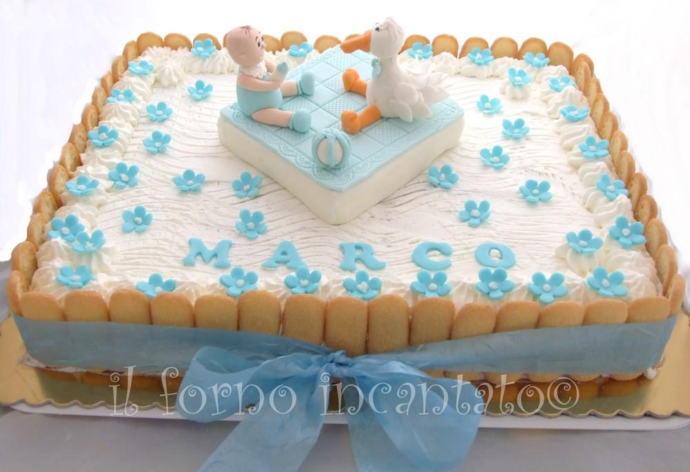 topper battesimo su torta