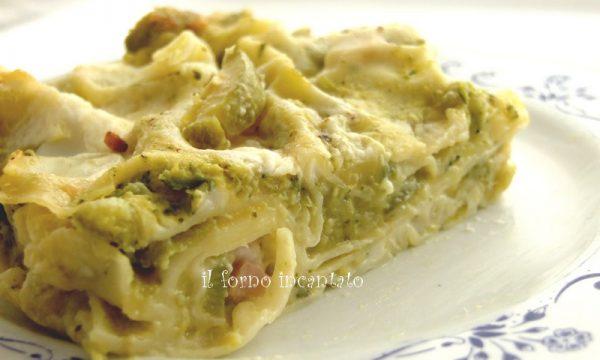 Pasticcio di lasagne con crema di zucchine
