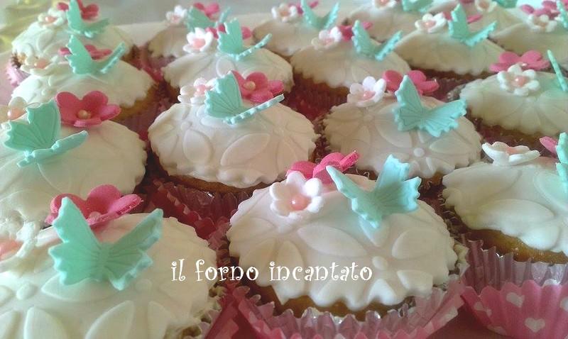 cupcake fiori e farafalla