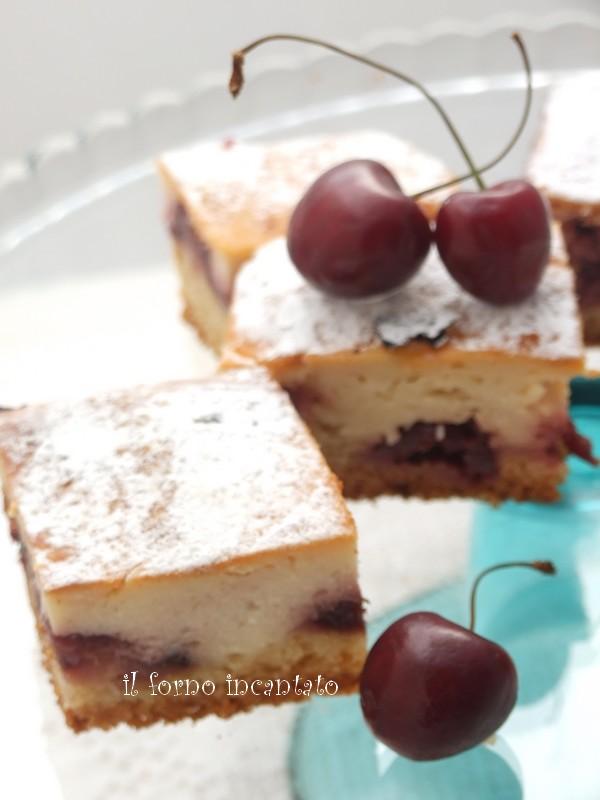 torta ricotta ciliegie