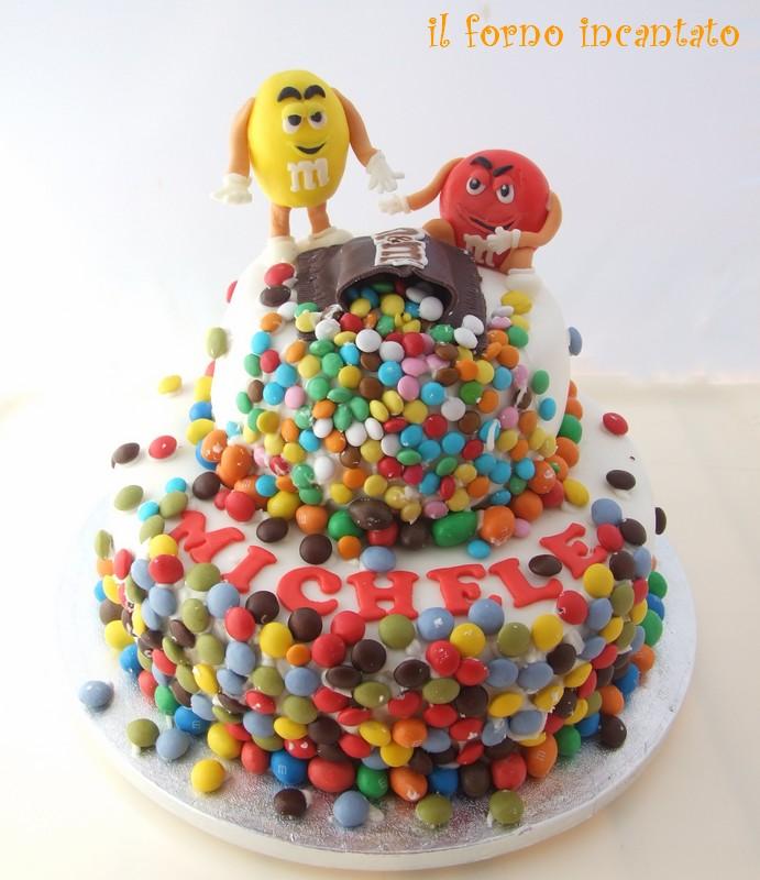 torta M&M's