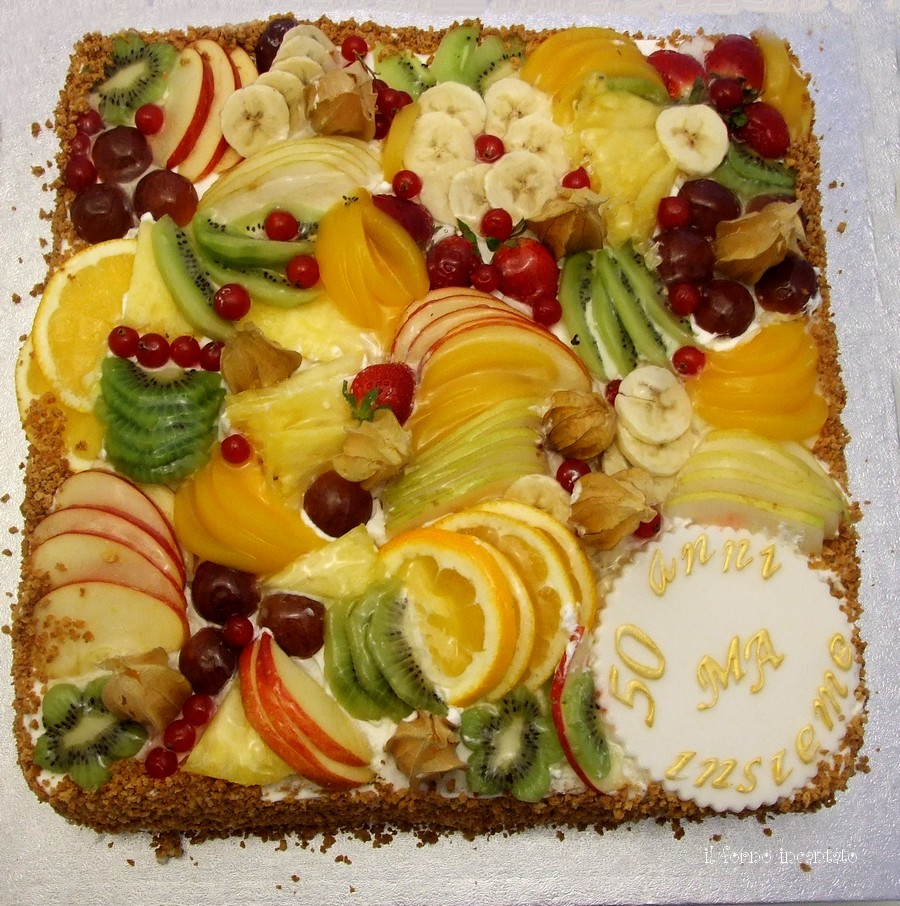 torta frutta anniversario