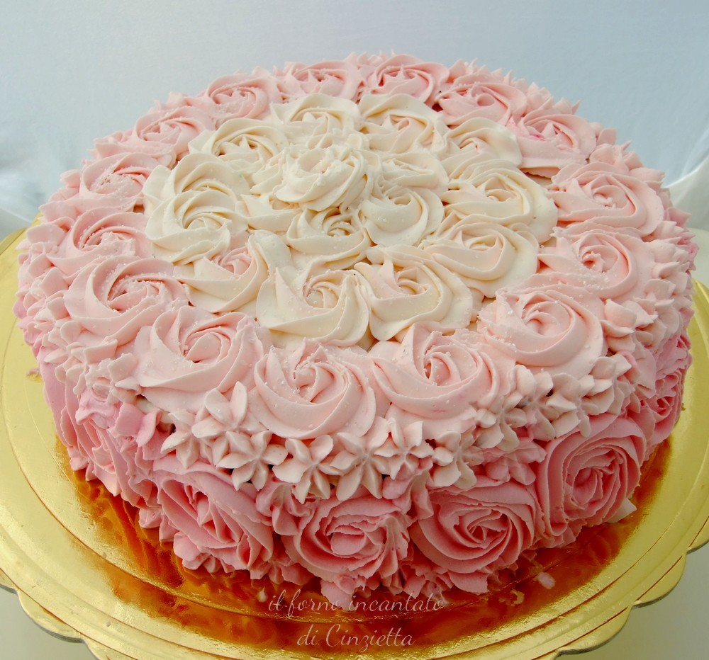 torta rose panna