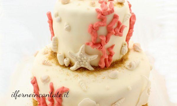Torta corallo rosa