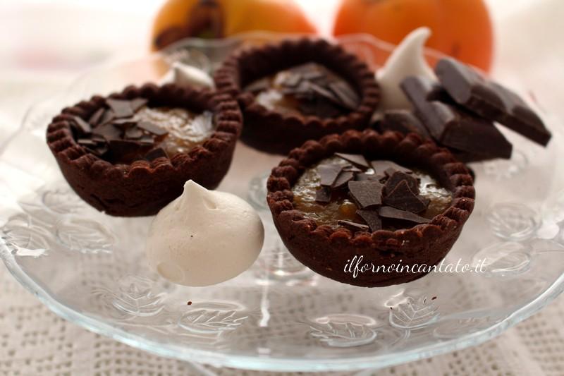 crostatina al cacao e composta di cakomela