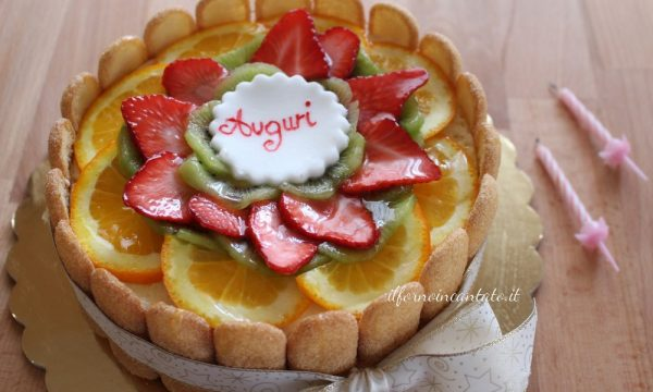 Torta di compleanno senza zucchero saccarosio
