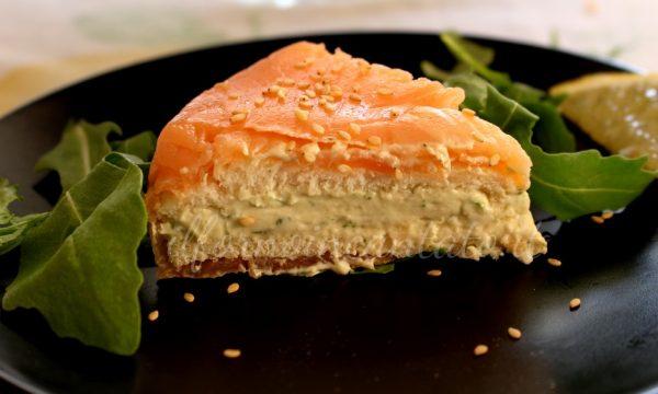 Torta al salmone affumicato