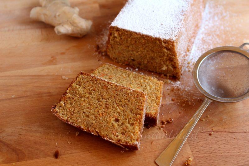 Cake carote e zenzero, ideale a merenda