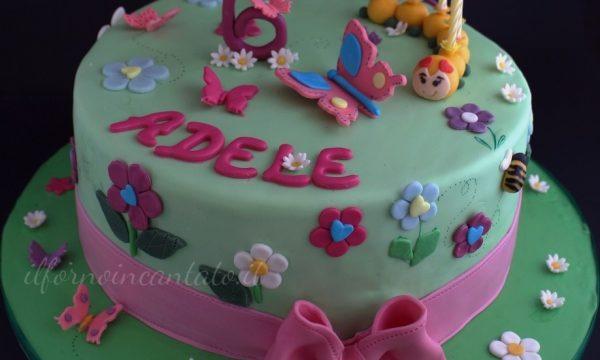 Fiori e farfalle (torta decorata)