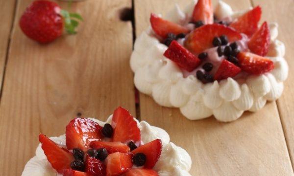 Mini Pavlove, ricetta senza glutine