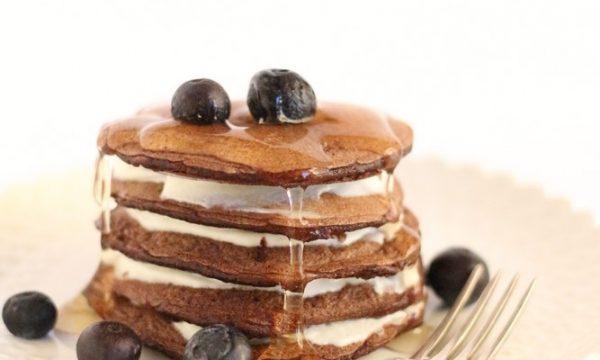 Pancake al cacao senza glutine
