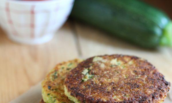 Burger vegetali di zucchine