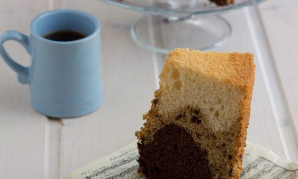 Chiffon cake vaniglia caffe cacao (con video per la sformatura)