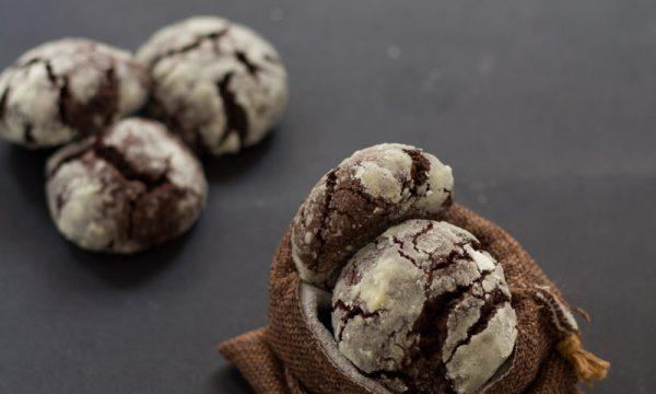 Chocolate crinkle cookies ovvero biscotti crepati