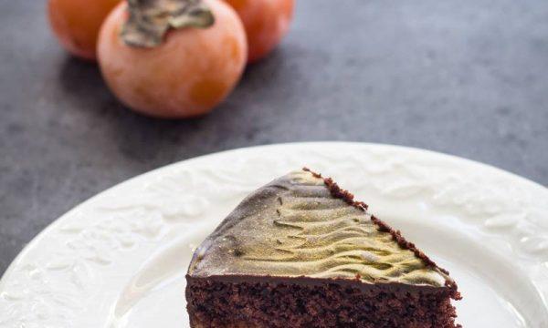 Torta cacao e cachi senza glutine