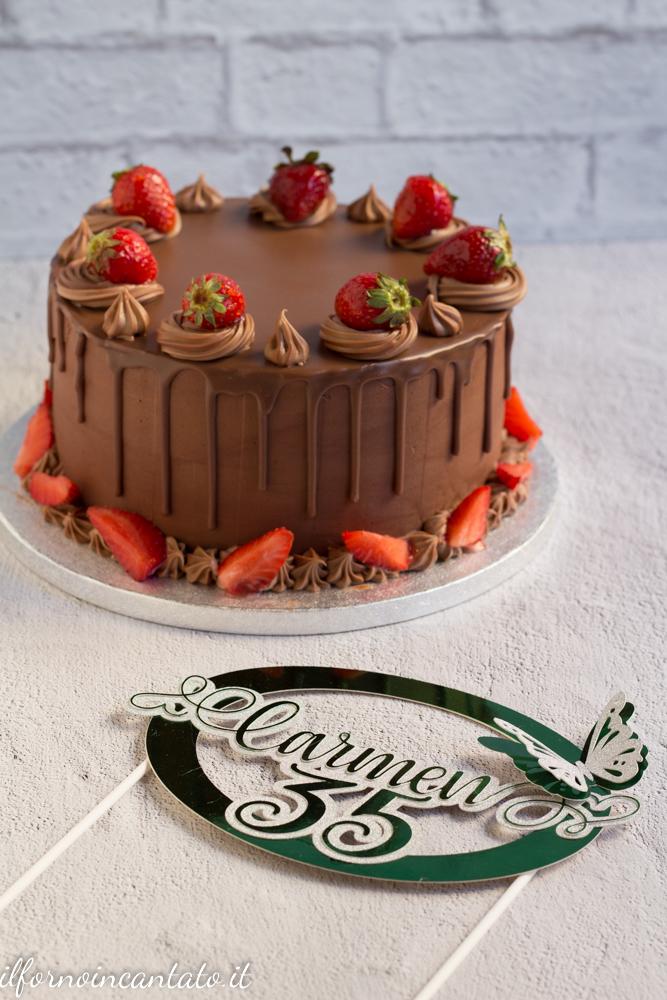 drip cake doppio cioccolato