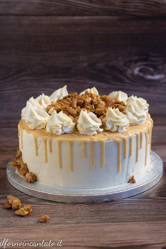 drip cake al caramello