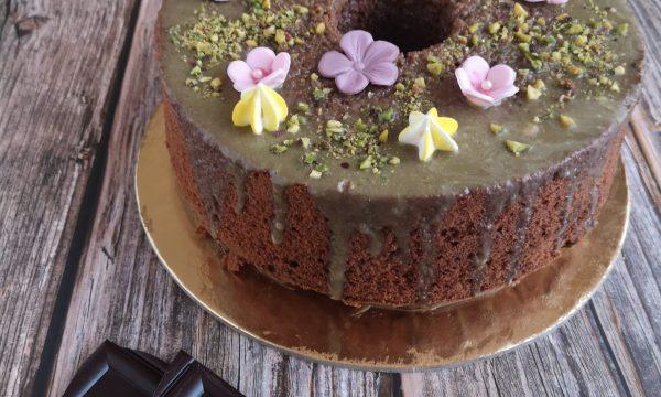 Chiffon cake cioccolato e pistacchio
