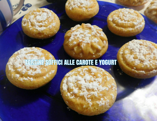 TORTINE SOFFICI ALLE CAROTE E YOGURT