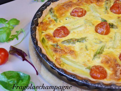 Torta salata con Provola e Asparagi.