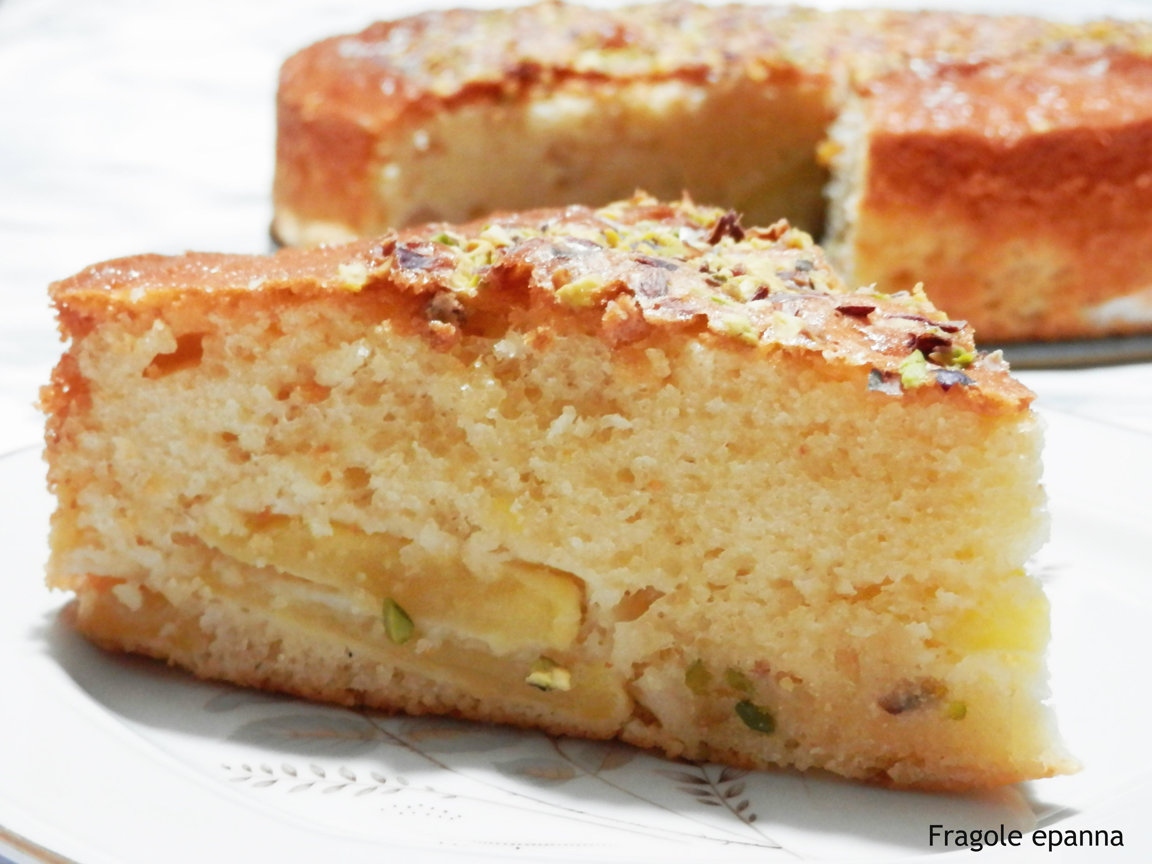 Torta di mele  con granella di pistacchio