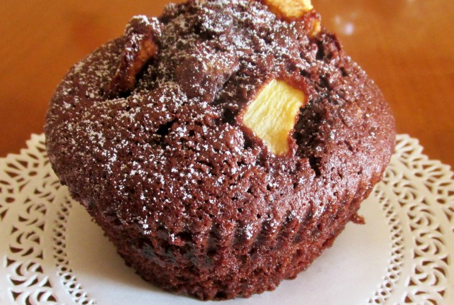 tortine al cioccolato e mela