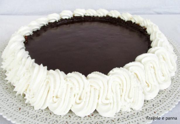 Crostata morbida al doppio cioccolato