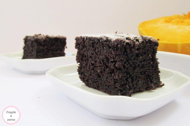 Torta cioccolato e zucca in monoporzione