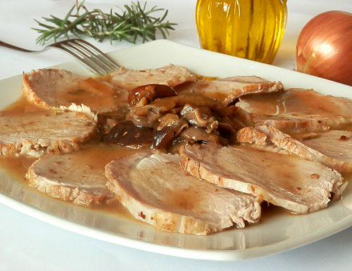 Arrosto di maiale con funghi
