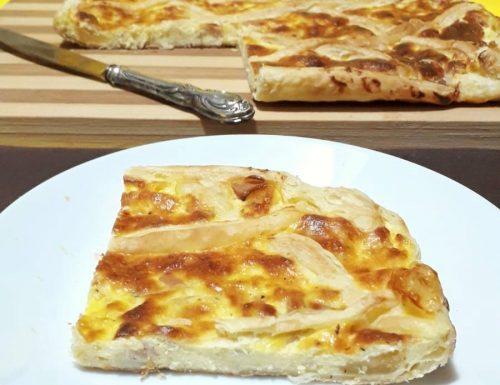 Torta salata con ricotta e prosciutto