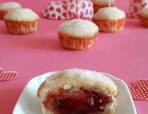 Muffin con cuore cremoso alla marmellata