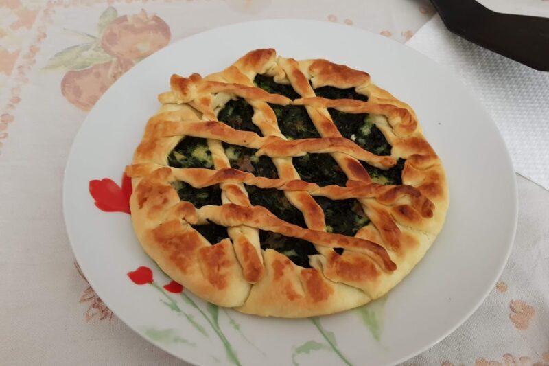 Torta salata con Spinaci Prosciutto e Mozzarella