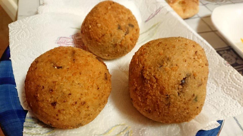 I miei primi arancini siciliani (ai funghi)