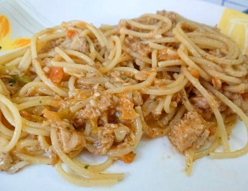 Spaghettata alla trapanese (con tonno)