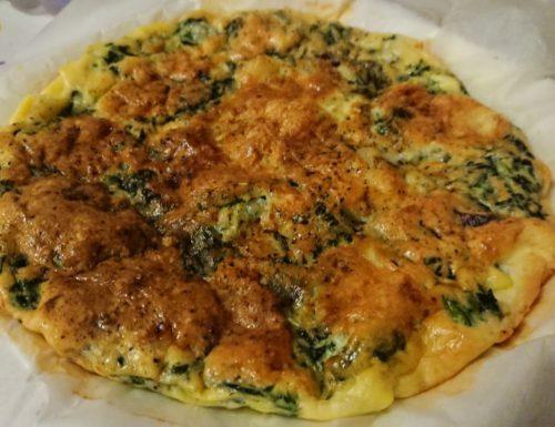 Frittata di spinaci e mozzarella (cotta al forno)