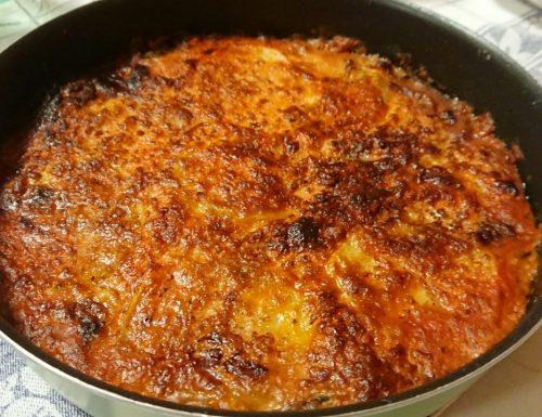 Parmigiana di melanzane e patate (senza frittura)
