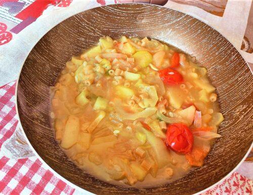 Minestra di zucchina e patate