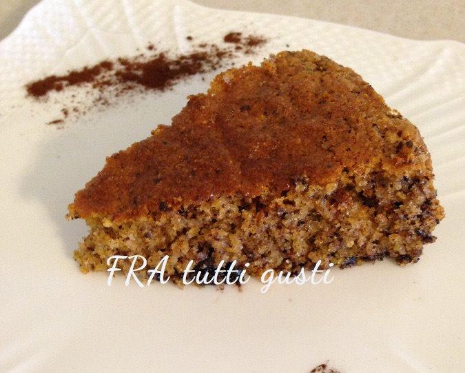 Torta con farina per polenta e cioccolato