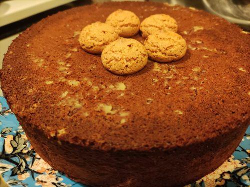 Torta soffice cioccolato e amaretti