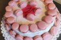 Pan di spagna farcito - crema chantilly e confettura -  Torta Macarons