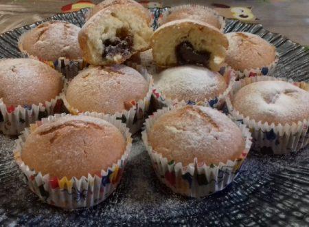 Muffins con cuore morbido di nutella