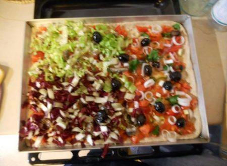 Pizza senza formaggi di Manuela