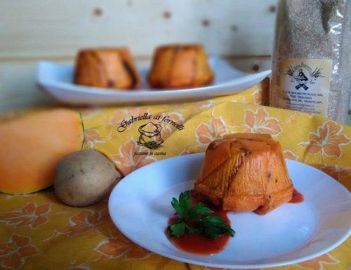 Sformatini di zucca con semolino di farro e patate