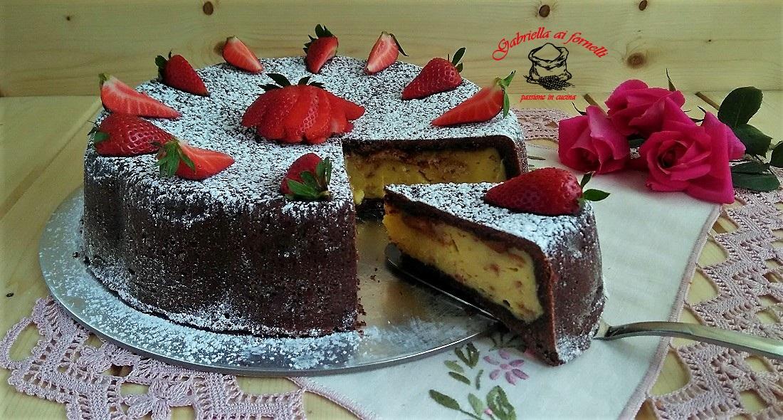 torta di frolla al cacao